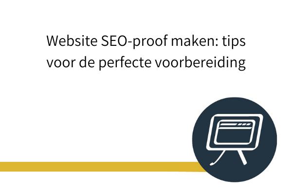 website SEO-proof maken