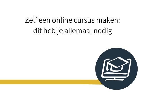 zelf online cursus maken